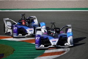 Valencia (ESP), 27th November - 1st December 2020. ABB FIA Formula E World Championship, Season 7, BMW i Andretti Motorsport, BMW iFE.21, No. 27 Jake Dennis (GBR) and No. 28 Maximilian Günther (GER),, test.