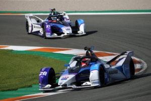 Valencia (ESP), 27th November - 1st December 2020. ABB FIA Formula E World Championship, Season 7, BMW i Andretti Motorsport, BMW iFE.21, Maximilian Günther (GER) No. 28 and 27 Jake Dennis (GBR), test.