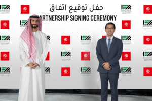 1 - Mohamed Ali Khalfan Al Dhaheri, MD of Inter Emirates Motors and Tom Lee, MD of MG Motors Middle East
