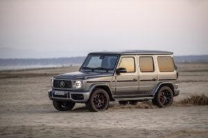 Mercedes-AMG G 63 Edition 1, designo platin magno, Leder Exklusiv Nappa AMG schwarz.;Kraftstoffverbrauch kombiniert: 13,1 l/100 km, CO2-Emissionen kombiniert: 299 g/km*  Mercedes-AMG G 63 Edition 1, designo platinum magno, AMG Exclusive nappa leather black.;Fuel consumption combined: 13.1 l/100 km; Combined CO2 emissions: 299 g/km*