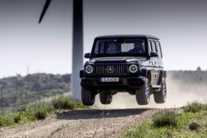 Mercedes-AMG G 63, obsidian black metallic, AMG Exclusive nappa leather macchiato beige/ espresso brown.;Kraftstoffverbrauch kombiniert: 13,1 l/100 km; CO2-Emissionen kombiniert: 299 g/km*  Mercedes-AMG G 63, obsidian black metallic, AMG Exclusive nappa leather macchiato beige/espresso brown.;Fuel consumption combined: 13.1 l/100 km; Combined CO2 emissions: 299 g/km*